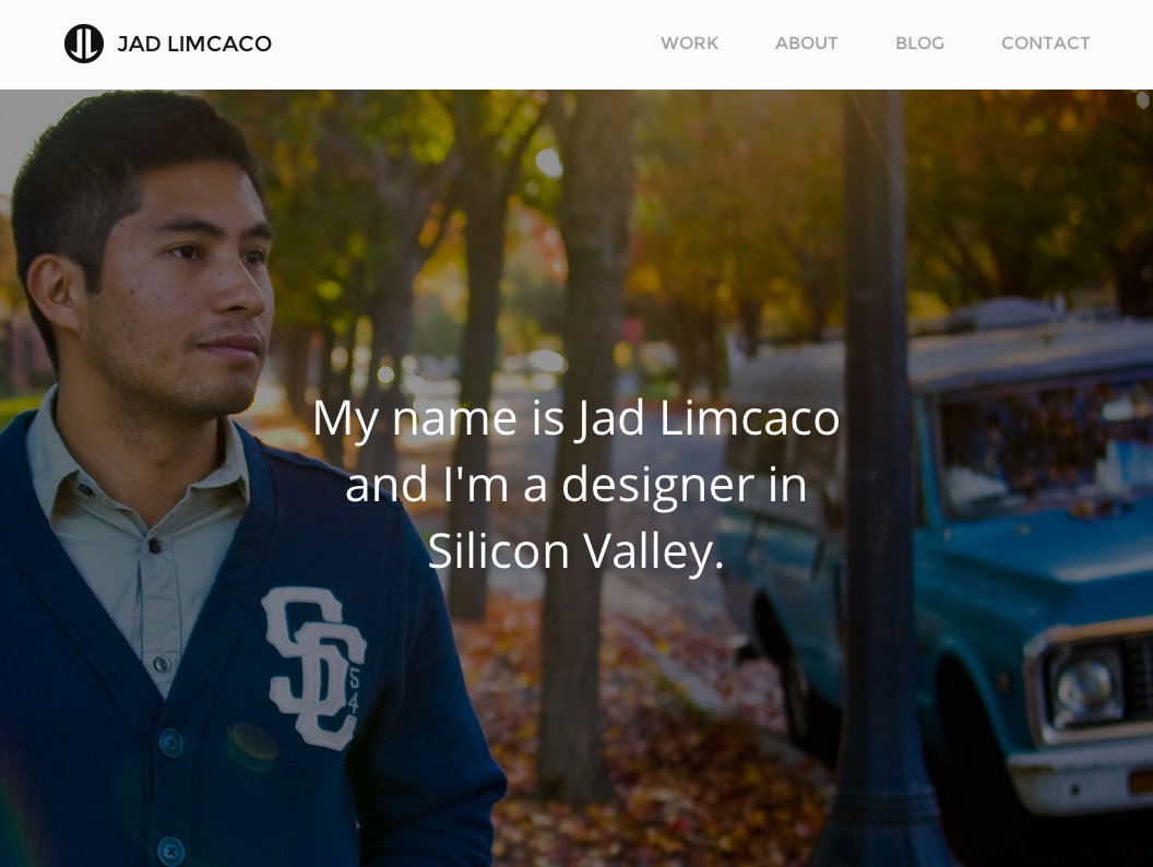 Small screenshot of Jad Limcaco's portfolio